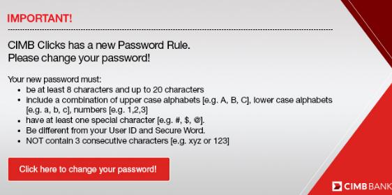 Cara Tukar Password CIMB Clicks 2019 - Cara Mudah & Percuma Buat