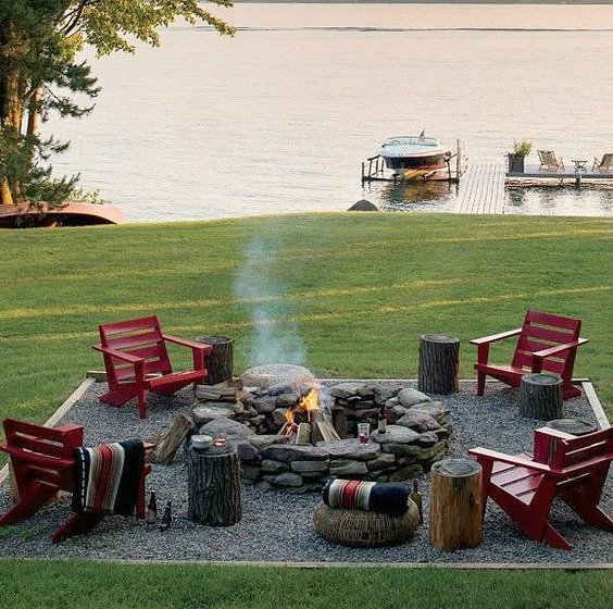 outdoor ideas, landscape, pathway, patio, firepit, http://bec4-beyondthepicketfence.blogspot.com/2016/04/outdoor-dreamin.html