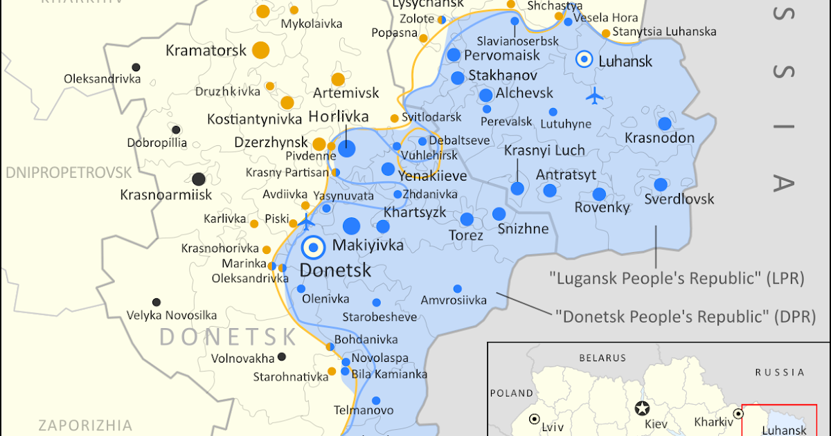 Ukraine War Control Map Report September 2020 Political Geography Now