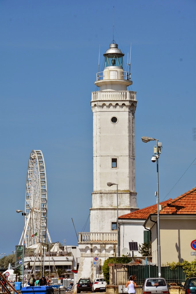 Fisher's port Rimini lighthouse