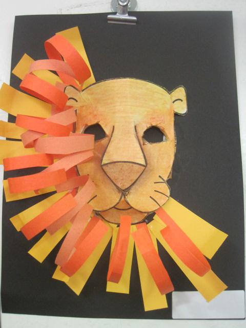 Lion head craft template