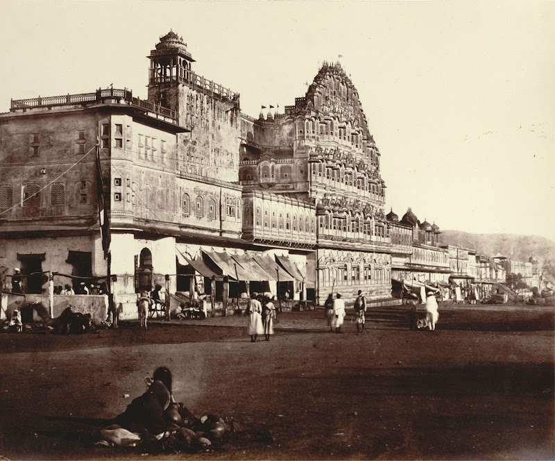 Hawa Mahal (Palace of Winds) in Jaipur, Rajasthan c1860's