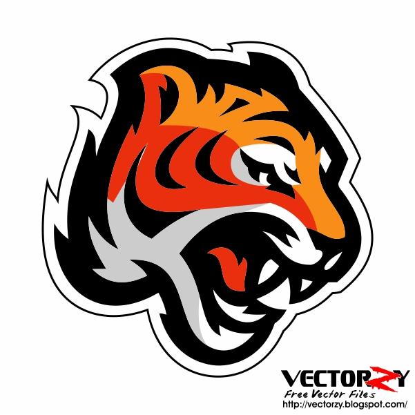 Download Vector Head Tiger (Kepala Macan)  CorelDraw HD PNG
