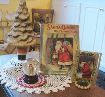Santa Images on Early Books