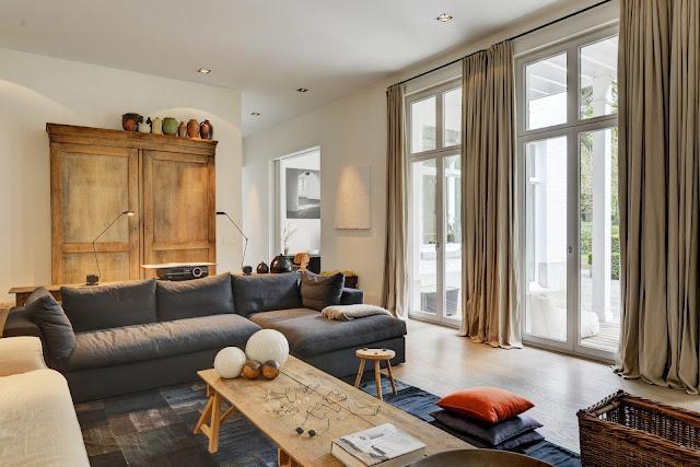 Дизайн-проекты. Природная палитра цветов роскошной виллы в Бельгии