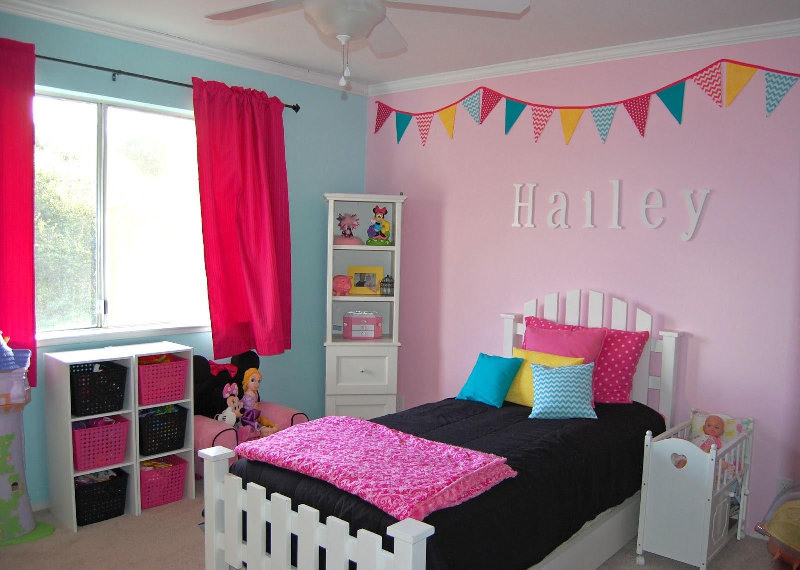 pinkie for pink big girl bedroom reveal. Black Bedroom Furniture Sets. Home Design Ideas