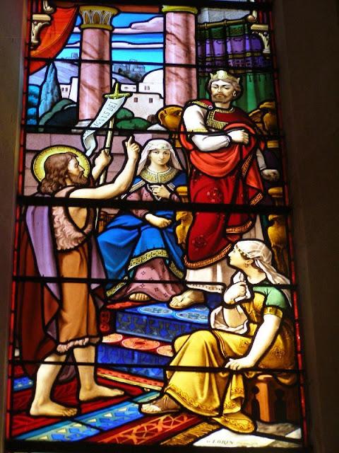 St Jean baptiste - vitraux église Boën @Défrade kt42