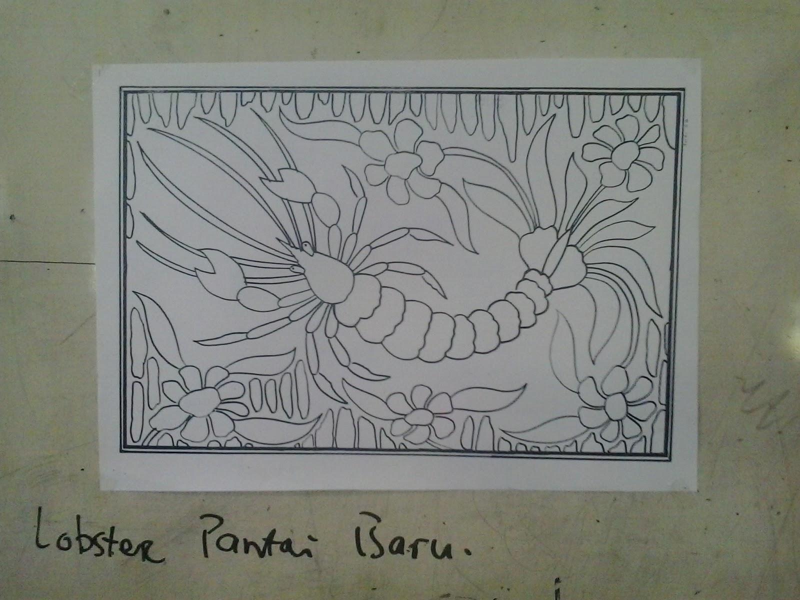 Gambar Sketsa Batik Flora Fauna Sobsketsa