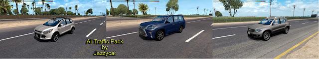 ats ai traffic pack v6.2 screenshots 1, Ford Escape '13, Lexus LX '16, Volkswagen Tiguan