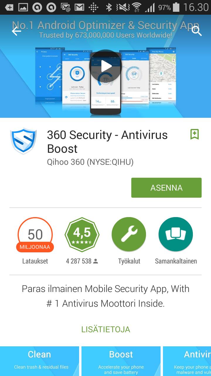 android käyttäjien hallinta