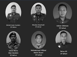 Tragedi 6 Anggota Bomba Lemas Ketika Menyelamat