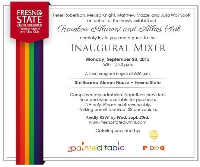 Modesto And Central Valley Wedding Planner And Event: Gay Central Valley: EVENT: Rainbow Alumni & Allies Club