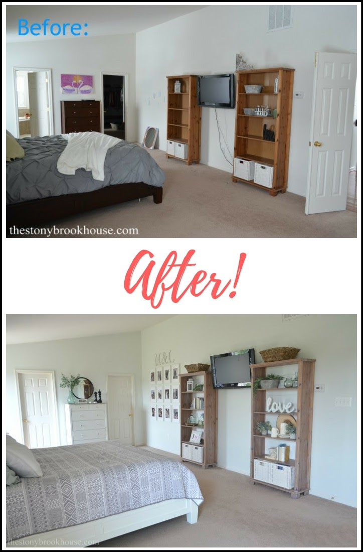 Master Bedroom Before & After TV Wall