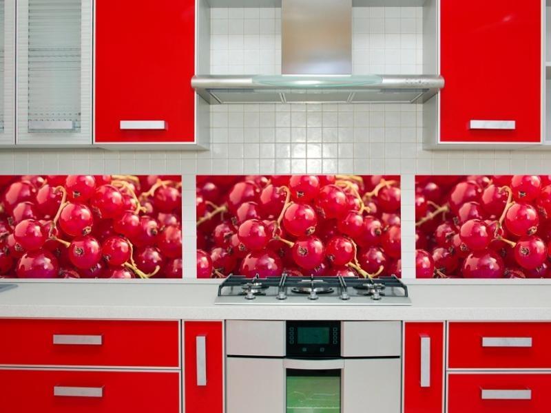 kuchnia czerwono biała