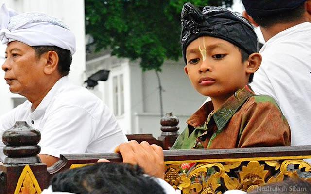 Peserta Cilik Festival Ogoh-ogoh di Jalan Malioboro