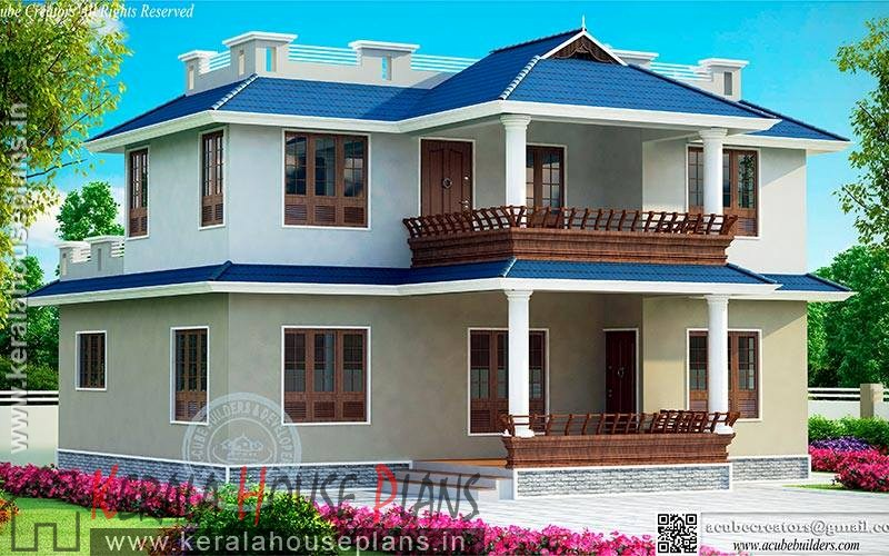 Kerala Home Design With Elevation 1727 Square Feet