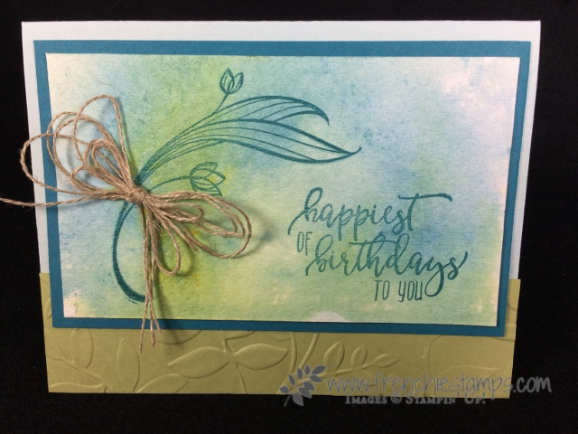 Lovely Wishes, Picture Perfect Birthday, Brusho, Stampin'Up!, Frenchie Stamps,
