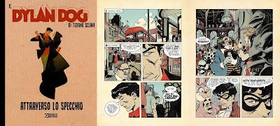 Il Dylan Dog di Tiziano Sclavi: Attraverso lo specchio (cover + tavole)