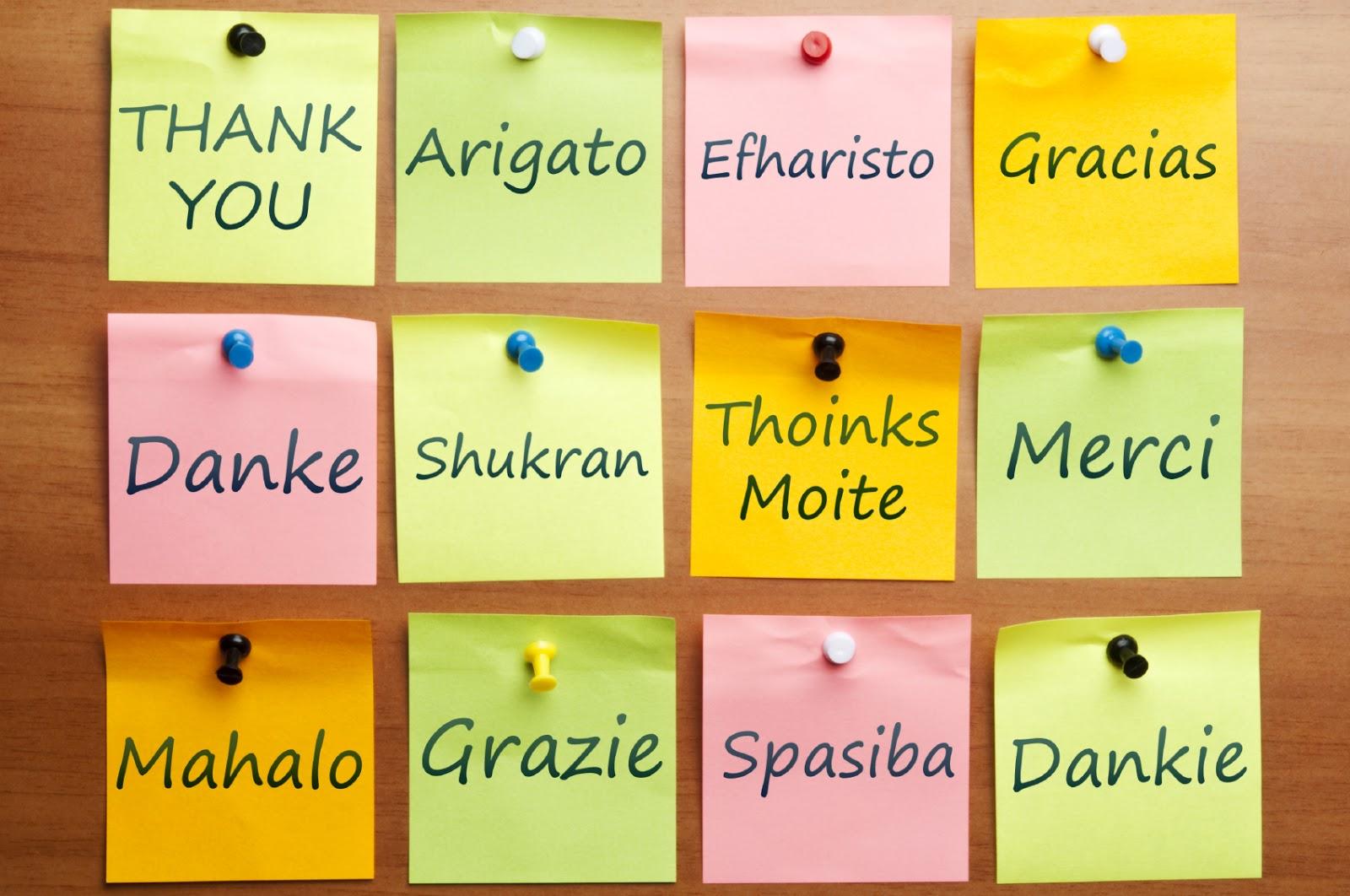 Calendar Photography Jobs : Gracias en notas con diferentes idiomas imagenes y carteles