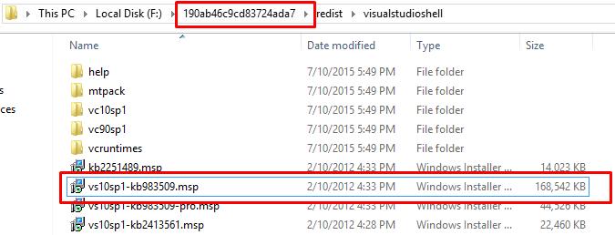 Installing SQL Server 2012 - Error: Prior Visual Studio 2010 instances