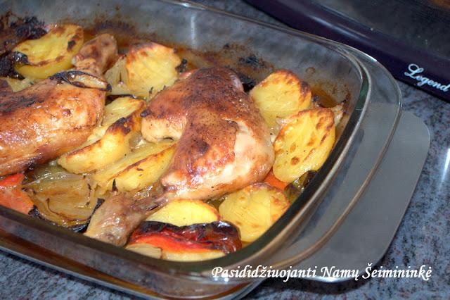 RECEPTAS: Vištienos kulšelės keptos orkaitėje su daržovėmis ir alumi