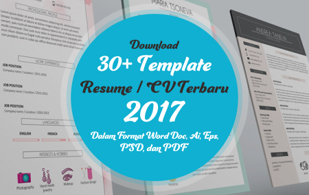 Download 30+ Template Resume / CV Terbaru 2017 Dalam Format Word