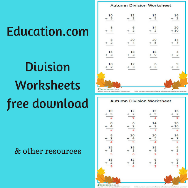 Education.com Worksheets - free download