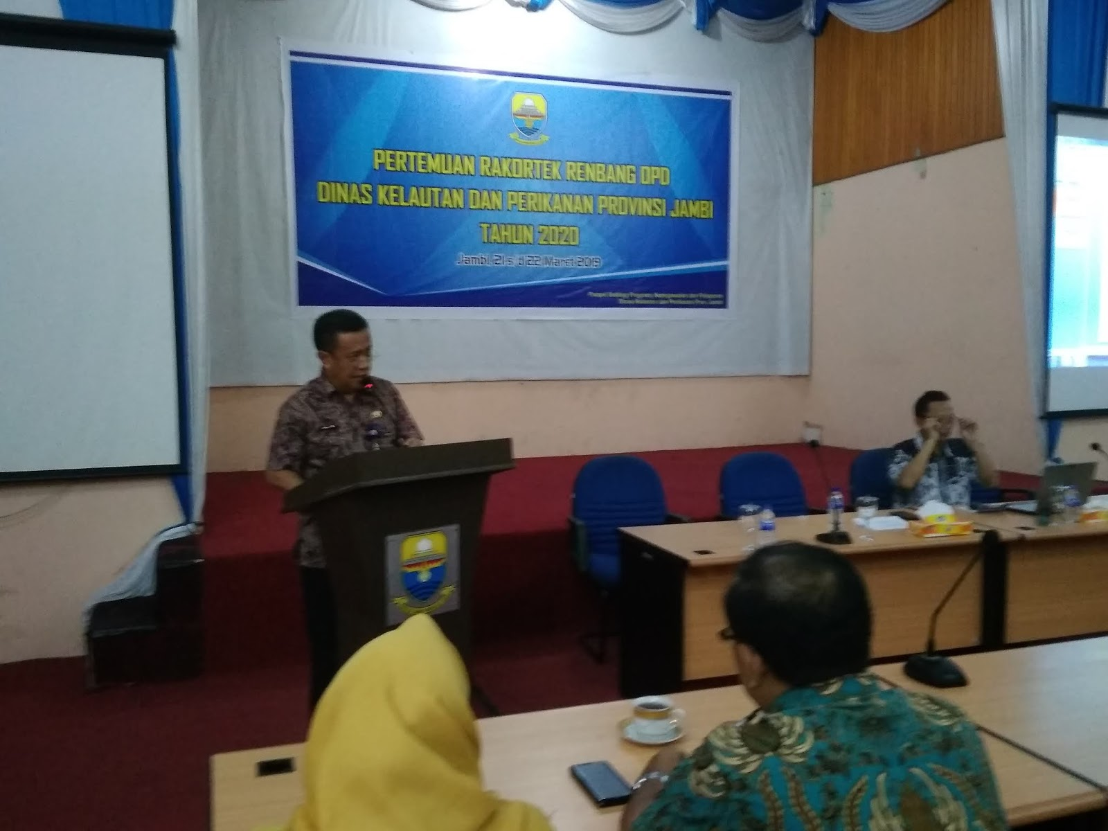 Kadis DKP Provinsi Jambi Membuka Secara Resmi Rakortek Renbang