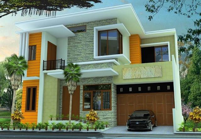 rumah kecil 2 lantai modern