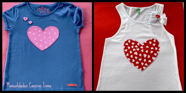 Manualidades Caseras Fáciles Inma Camisetas de corazón