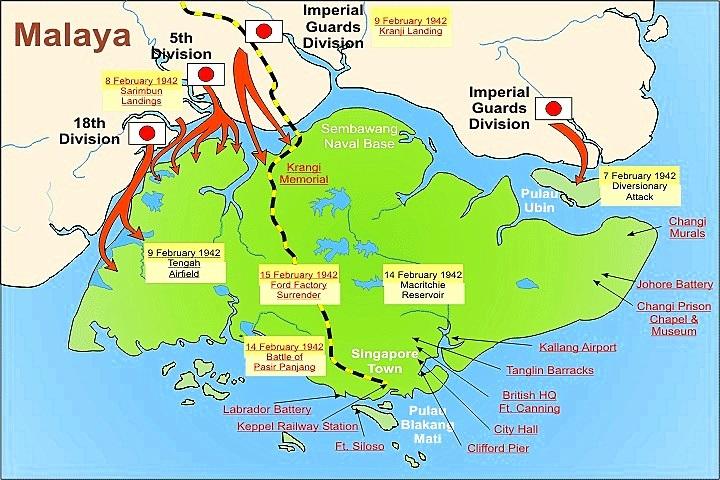 Η Ιαπωνική επίθεση στη Σιγκαπούρη