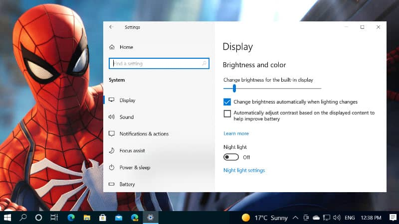 How to disable Content Adaptive Brightness Control (CABC) in Windows 10