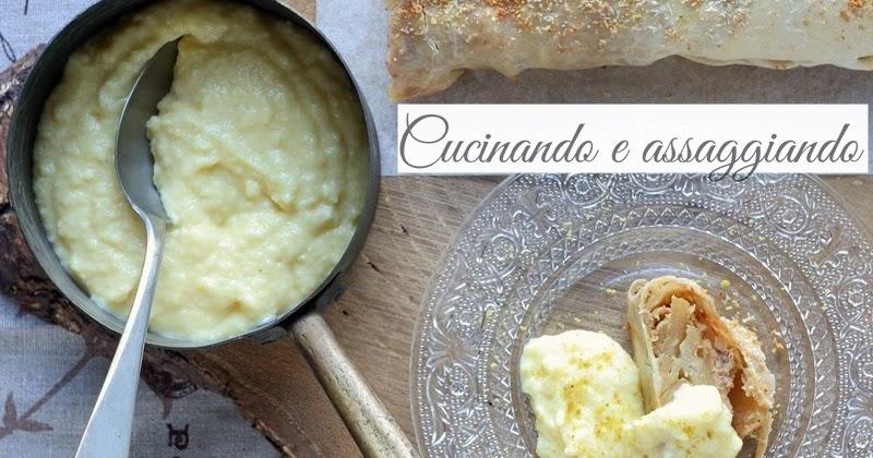 Strudel di mele cocco e pistacchio con crema al cocco