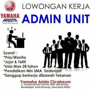 Lowongan Kerja Yamaha Bandung 2019 Minimal SMA SMK D3