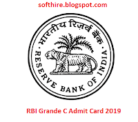 RBI Grade C Admit Card
