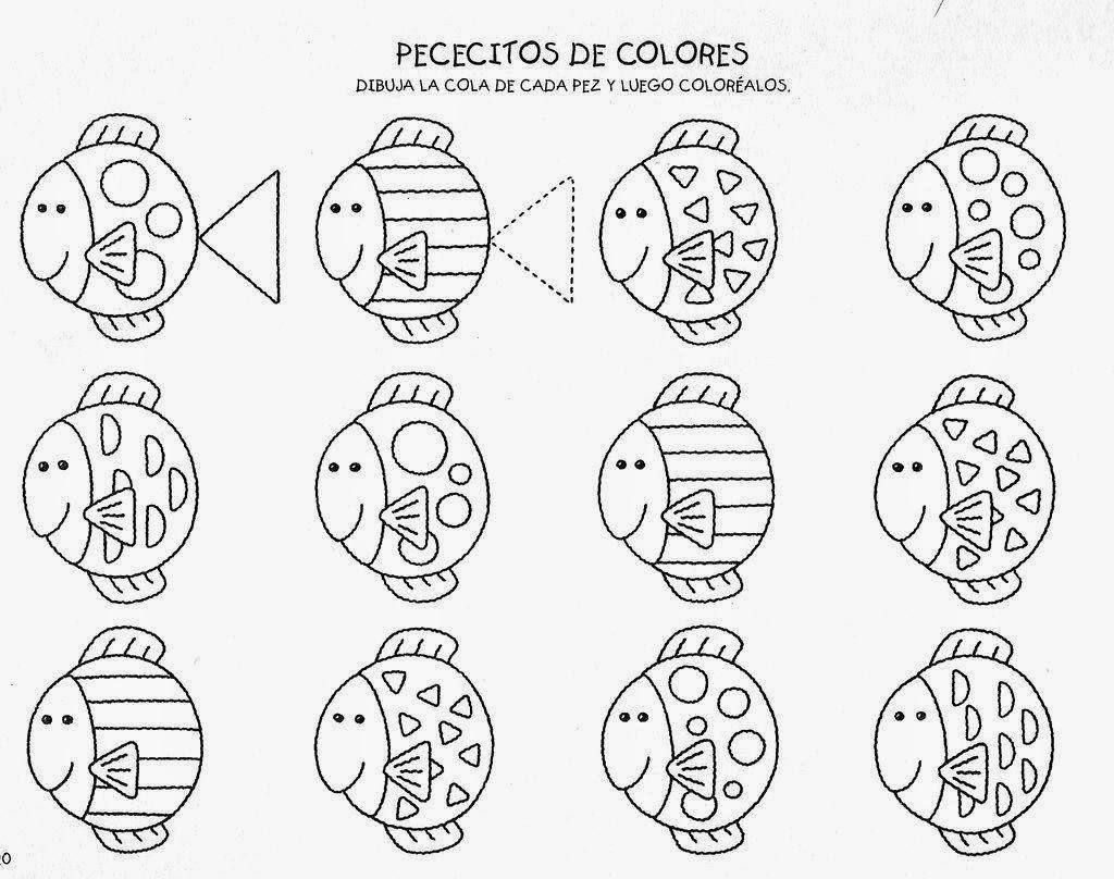 Excepcional Hojas De Trabajo De Colores Para Preescolares ...