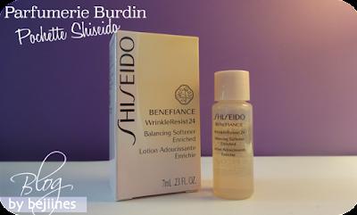 Shiseido lotion adoucissante enrichie