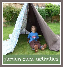 Things to do with toddlers and garden canes