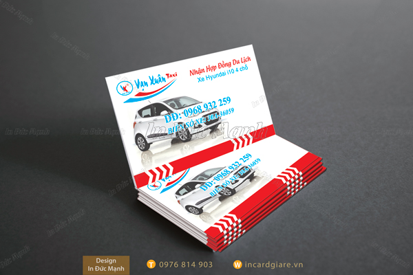 Mẫu card visit taxi Vạn Xuân