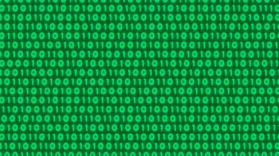 デジタルデータの背景素材(緑)