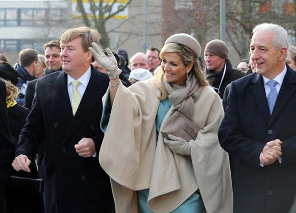 Queen Maxima visit Germany Maxima wore Natan dress, Natan clutch bag