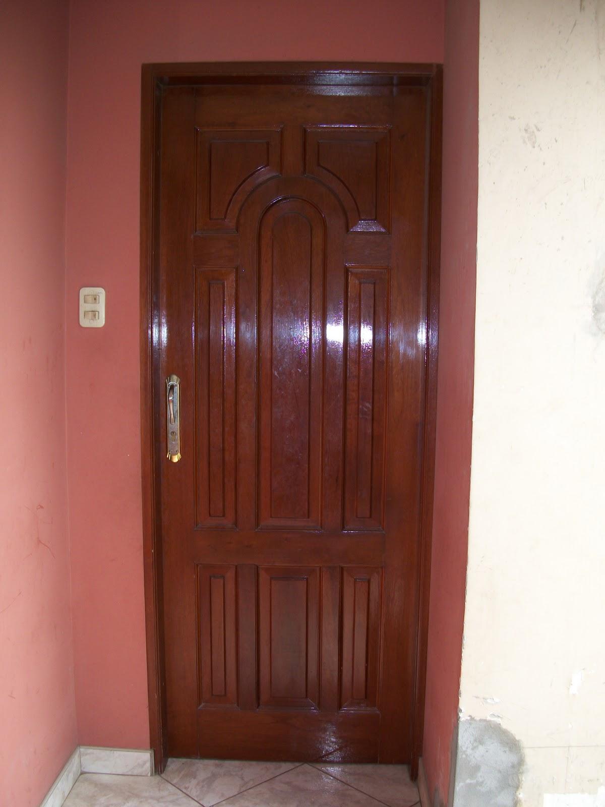 Carpinteria ebanisteria la luz puertas principales en - Puertas de entrada madera ...