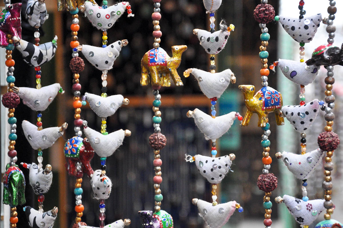 Close-up of a bead curtain, Stables Market, Camden Town, London, England