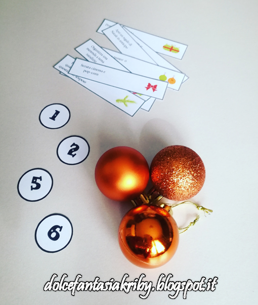 calendario dell'avvento palle di natale albero