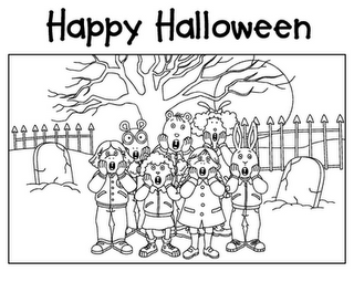 free halloween music coloring pages | transmissionpress: 11 Happy Halloween Coloring Pages