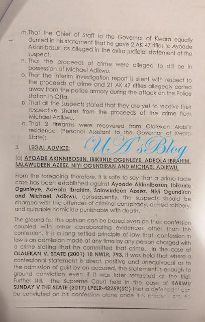 Offa robbery: Ministry of justice writes Police IG, Idris, exonerates Saraki (SEE LETTER)