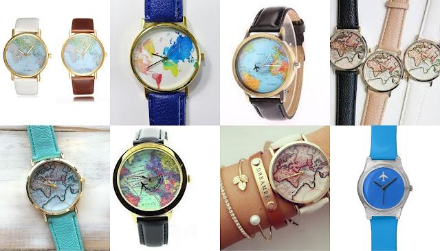 Что подарить путешественнику? идеи подарков для любителя путешествий часы с принтом наручные карта мира