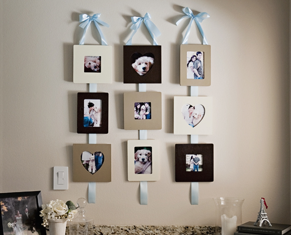 creative handmade photo framing art