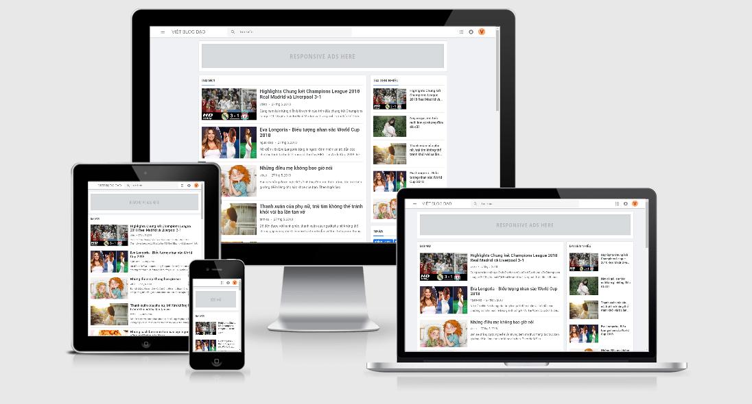Việt Blogger Template bản miễn phí 2018