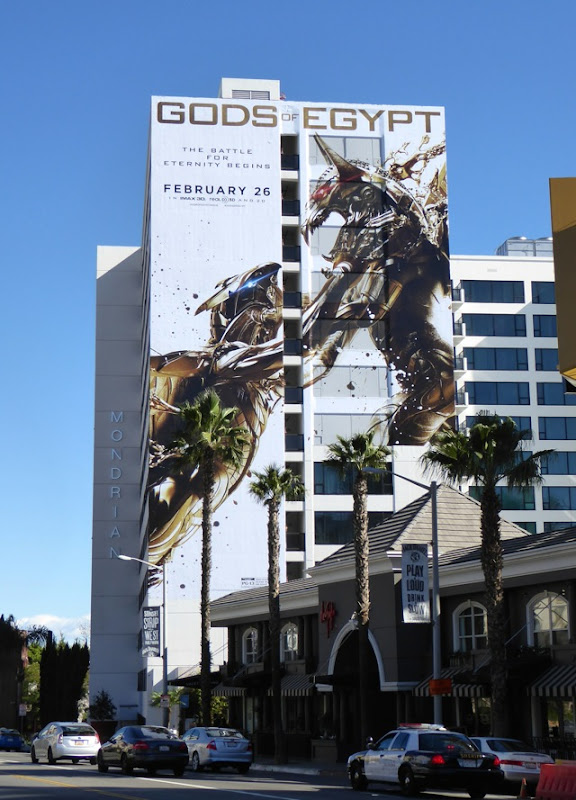 Giant Gods of Egypt film billboard Sunset Strip